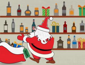 Whisky Santa